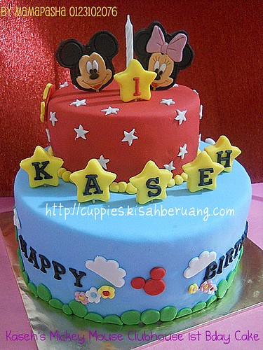 #5 mickey mouse clubhouse cake