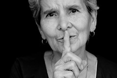 Silence (.chourmo.) Tags: portrait woman donna mother silence ritratto madre silenzio