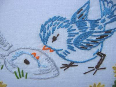 birdie embroidery
