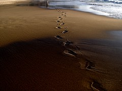 FOOTSTEPS (peke_cheeks) Tags: sea beach sand atlantic footsteps algarve
