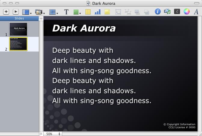 Dark Aurora Theme - Detail