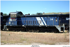 MRL SW1200 14 (Robert W. Thomson) Tags: railroad train montana diesel railway trains bn locomotive np trainengine mrl switcher northernpacific burlingtonnorthern switchengine emd sw1200 montanaraillink sw12 fouraxle yardgoat livingtston