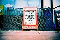 the headline (lomokev) Tags: street hospital bug typography newspaper lomo lca xpro lomography crossprocessed xprocess text low ground lomolca headline agfa jessops100asaslidefilm agfaprecisa vomit lomograph argus agfaprecisa100 cruzando theargus precisa jessopsslidefilm file:name=070704lomolcaplus07