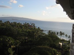 Our balcony view of the ocean, Molokini and Kahoolawe. (07/02/07)