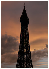 Tower at Sunset (E300 DSLR) Tags: uk sunset tower wheel coast pier view lancashire promenade vista blackpool lanscape fylde fy feris 01253