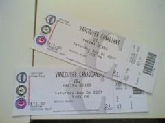 canadians tickets for blogathon prize