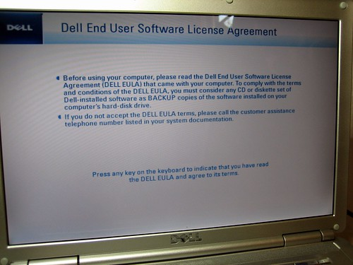 Dell 1420N with Ubuntu EULA
