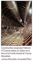 5 Mile Tunnel of Yucca Mountain Repository