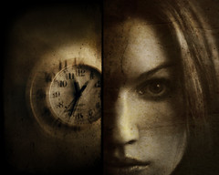 saudade (solecism) Tags: texture clock face diptych waiting time saudade watching hours countdown minutes seconds timeflies dontblink oldphototexturebyinfrastockdeviantartcom