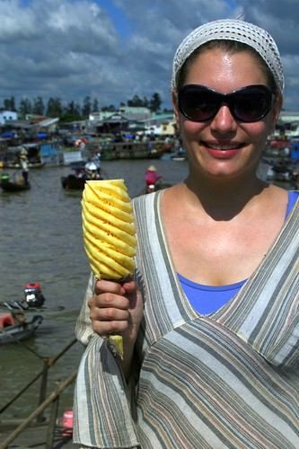 Girlie and a pineapple lollipop