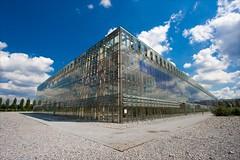 Mont-Cenis -IMG_8474 (Hastur Harbrough) Tags: window architecture clouds education fenster wolken architektur holz ruhrgebiet halle glas herne bildung akademie montcenis