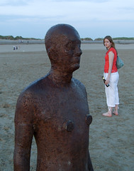 Gormley statues at Crosby beach (robdeja) Tags: beach liverpool statues gormley crosby