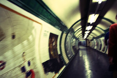 I know, the past will catch you up as you run faster (Palmadadattero) Tags: blur london underground subway mood floor tube ©tamaraberlaffa