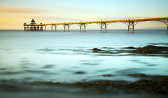Aqualines (Andy Brown (mrbuk1)) Tags: ocean longexposure blue seascape seaweed water pier aqua bright acid horizon victorian dream clevedon ethemeral supershot nd110 abigfave impressedbeauty theunforgettablepictures artofimages bestcapturesaoi