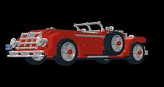 Duesenberg J Murphy bodied Convertible Coupe - 1928 (lego911) Tags: auto 1920s usa classic car america vintage j 1930s model lego render convertible veteran 1928 coupe murphy cad duesenberg moc ldd miniland coachbuilt modelj