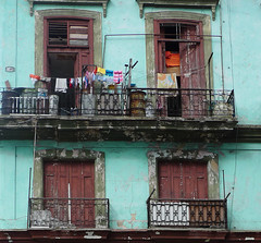 Balcony life (steverichard) Tags: steverichard image photo street house cuba apartment balcony laundry clothes clothing line washing door havana city habana dwwg porte portal metal railing decay clothesline apparel cuban cubana cubano building structure block