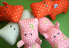 The circus on green (badskirt) Tags: toy softies fabric stuffedanimal hippo mingle popgarden badskirt niceyjane