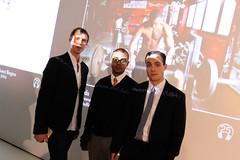 Artists Everynone (Will Hoffman, Daniel Mercadante, and Julius Metoyer III) at YouTube Play (HP Hewlett-Packard) Tags: art technology play tech guggenheim biennial hewlettpackard youtube