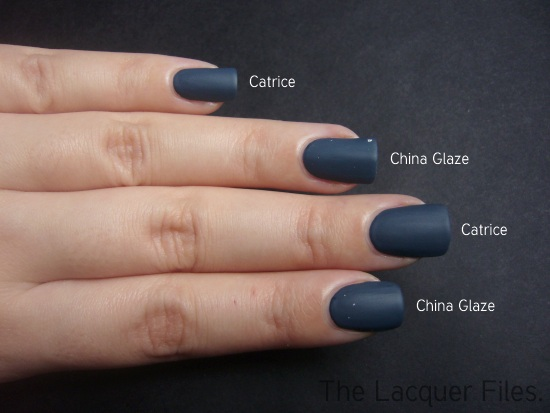Catrice Matt Comparison with China Glaze Matte Magic