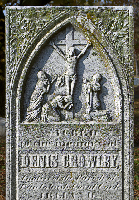 Calvary Cemetery, in Saint Louis, Missouri, USA - monument of Denis Crowley of Ireland