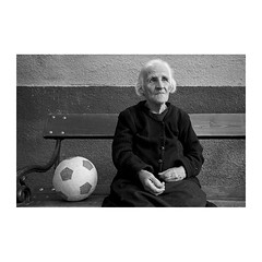 . (Emmanuel Smague) Tags: leica travel portrait people blackandwhite bw woman film 35mm photography europe grandmother report balloon documentary macedonia mp balkans emmanuelsmague
