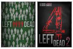 Left 4 Dead 1&2 (christian frarey) Tags: photoshop computer poster graphicdesign pc video blood apocalypse xbox 360 games guns illustrator zombies infected horde survivors cs4 playstation3