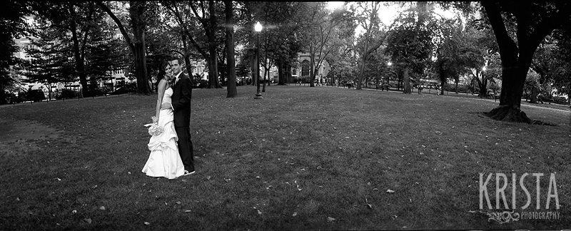 Boston Wedding on Black & White Film