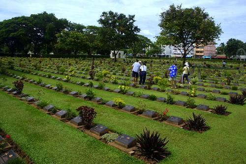 War cemetery, Kanchanaburi (Mostly British)
