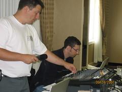 Bob and Mark at the controls