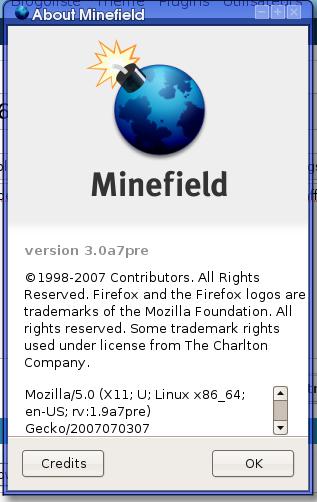 Minefield pré-3.0 alpha7 ?!