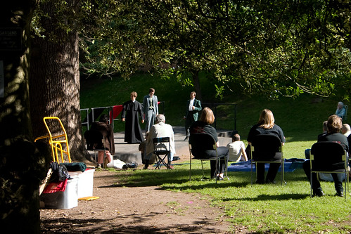 Amateur, free performance of Much Ado About Nothing in the Dell