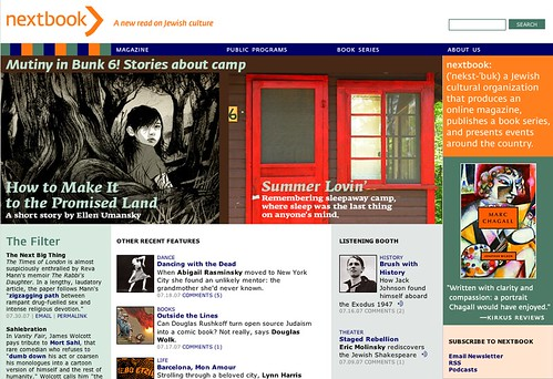 Nextbook.org home page: July 30, 2007: summer camp