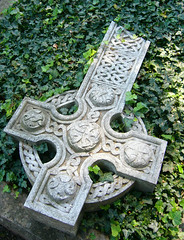 fallen cross (overthemoon) Tags: overgrown cemetery grave switzerland cross tomb ivy celtic myvillage romandie stlgier bfv1 soulsresonance granddhauteville