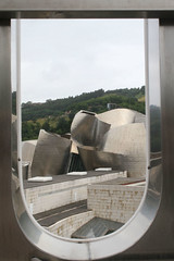 Guggenheim through an O (PhilipHassell) Tags: spain bilbao guggenheim eos30d