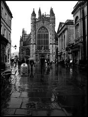 Bath (anita gt) Tags: uk inglaterra england bw rain lluvia bath bn pioggia diamondclassphotographer flickrdiamond