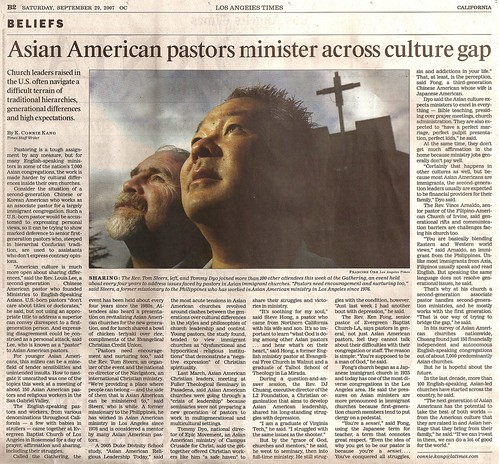 LA Times on 2nd gen pastors