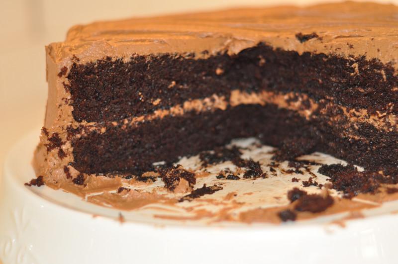 Chocolate Cake and Homeade Cheese Danish