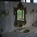 Ornate mirror and sink in Presidential Suite