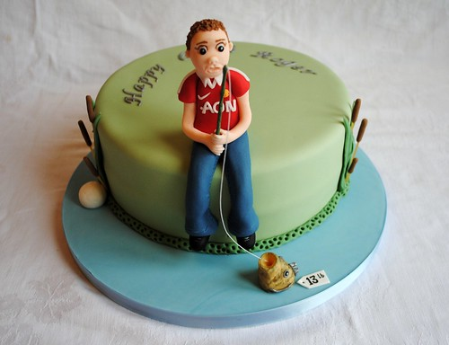 Fishing Man U Themed Birthday Cake a photo on Flickriver