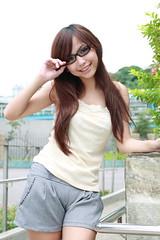 [フリー画像] 人物, 女性, アジア女性, 眼鏡・メガネ, 201105052100