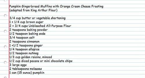 Pumpkin Gingerbread Muffin Recipe