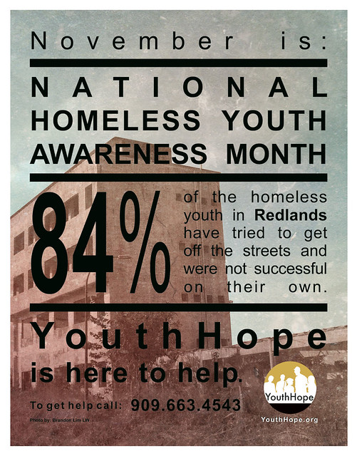 National Homeless Youth Awareness Month Print 2