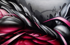greypink (mrzero) Tags: pink grey artwork gallery exhibition canvas urbanart spraypaint zero cfs mrzero coloredeffects