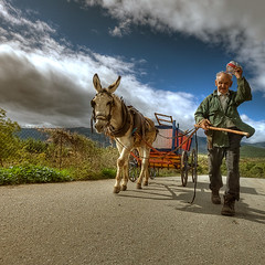 The cart (Sakis Dazanis) Tags: oldman cart kozani  kerasia