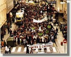 manifestación antiencoro en Caldas