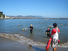 pat finishing swim (john hayato) Tags: sf escapefromtherock