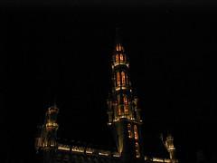 Hotel de Ville (stevesheriw) Tags: brussels belgium grand place bruxelles brussel belgie belgique capital european union europe grandplace unesco worldheritagesite hoteldeville cityhall gothic spire architecture