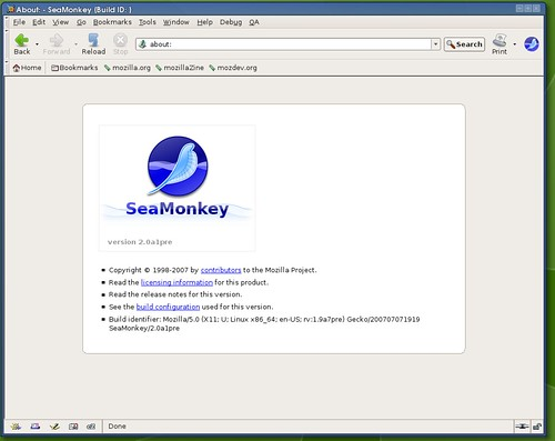 Seamonkey :  version