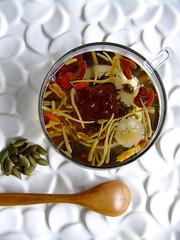 Eight treasure tea (Miki Nagata (bananagranola)) Tags: cup glass japan colorful tea athome chinesetea jenggala
