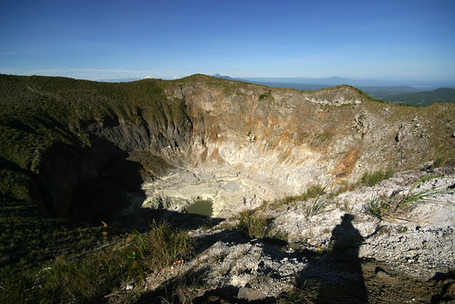 Sulphurous crater of Mt. Mahawu